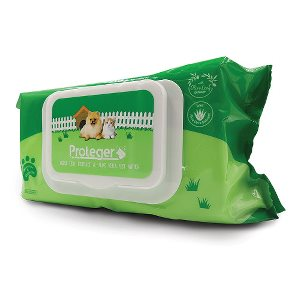 Proteger Pet Wipes Olive Leaf Extract and Aloe Vera 100 pieces
