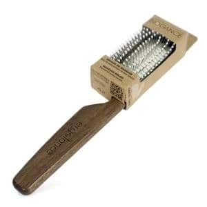 Dog Grooming Brush for Curly Hair - Biogance Ergolance Pin Massage Brush