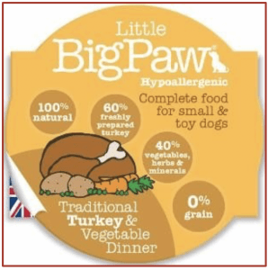 Little Big Paw Turkey and Vegetable Dinner Pot