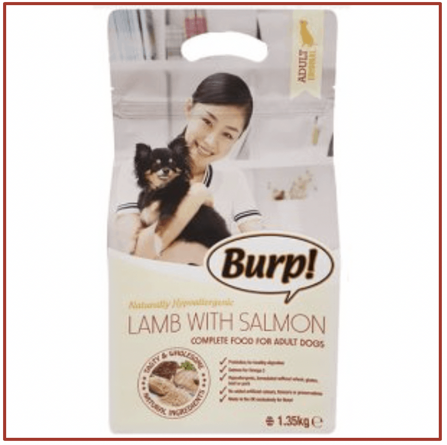 Burp! Lamb with Salmon for Adult Dogs