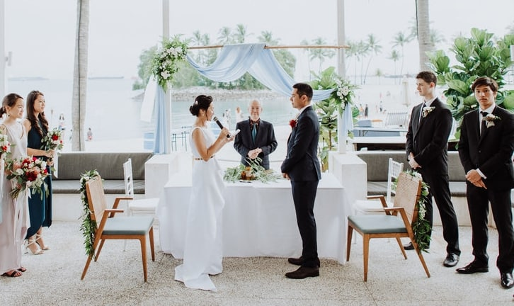 a solemnisation held at Tanjong Beach Club