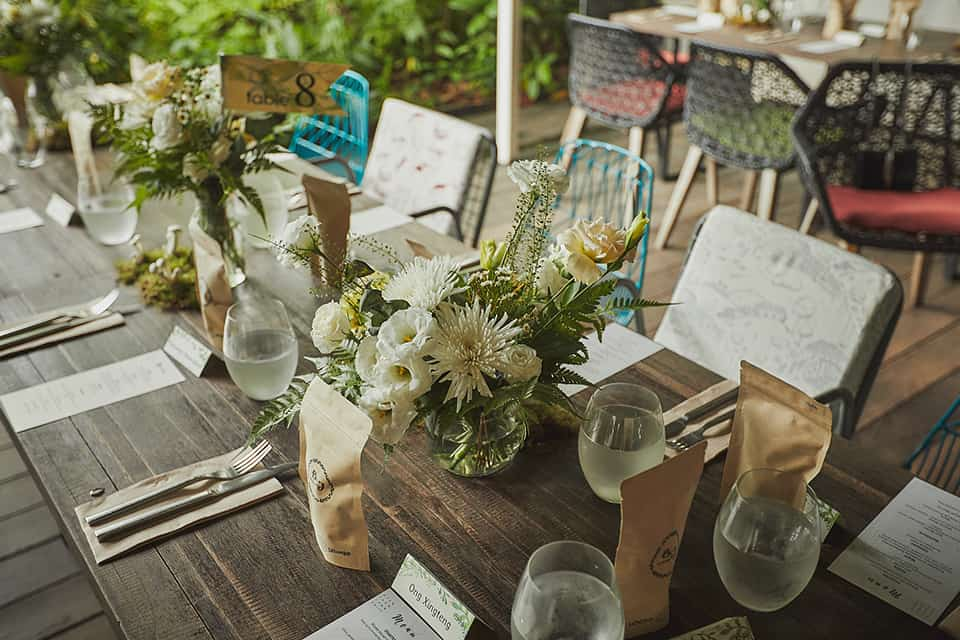 outdoor wedding held at at Open Farm Community