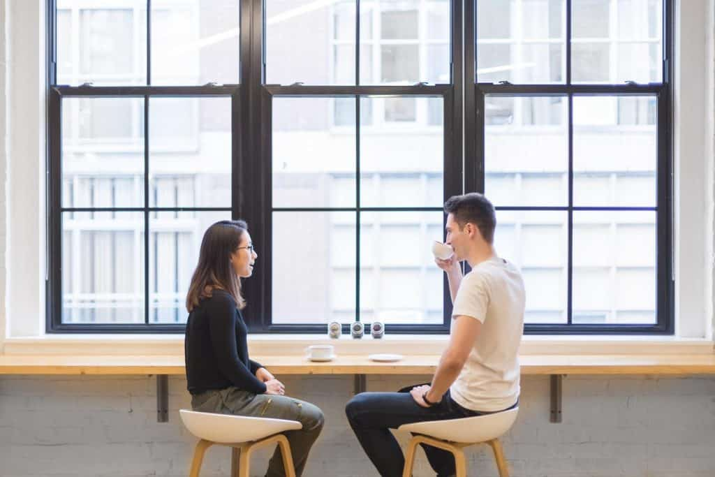 a couple on a arranged date by Table For Two